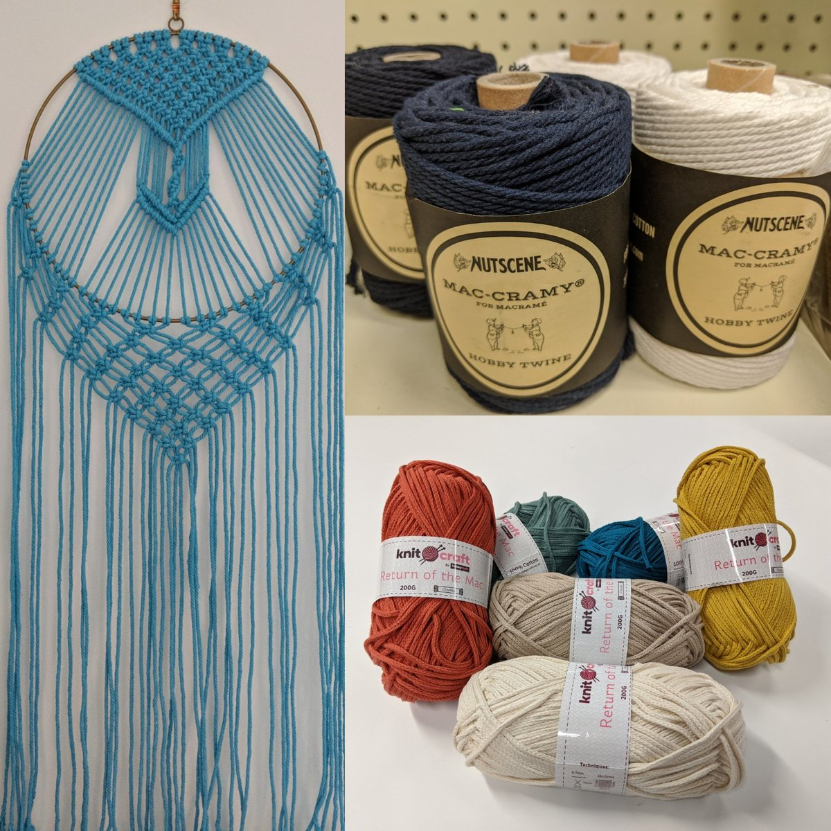 Ever want to try macrame? We've got some lovely new colours of Return of the Mac in store now! #Chelmsford <br>http://pic.twitter.com/QPJ5lf2g1J