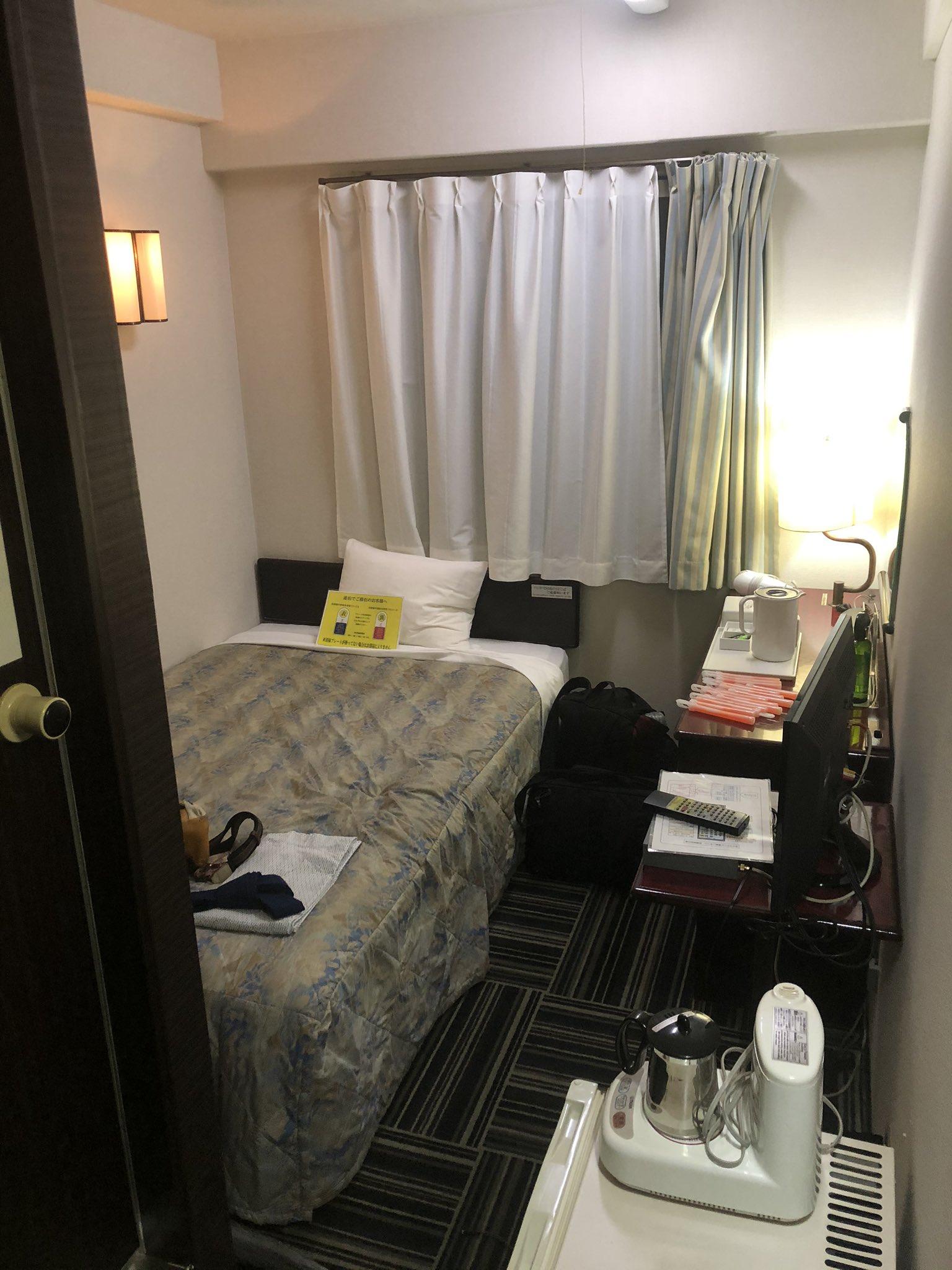 100円ホテルにたどり着きましたが、あまりにも普通のホテルでなんで100円なのか分からなくなってきた……