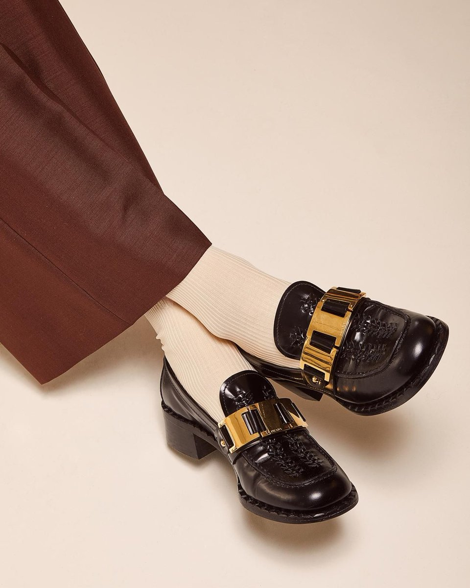 Classic loafers get a refresh with statement heels, two-tone leather and glossy hardware: bit.ly/387LVZn