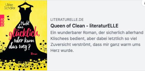 Tolles Thema mal anders verpackt von Ulrike Schäfer - meine Rezension hier: http://literaturelle.de/queen/  Klare Lese-Empfehlung. Danke an den @rowohlt für das Rezensionsexemplar. #aufräumen #minimalismus #ulrikeschäfer #machtdasglücklichoderkanndaswegpic.twitter.com/bgkXJxPiHH