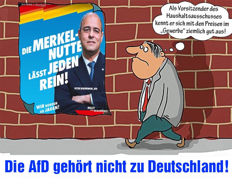 """Die AfD ist ein Auffangbecken für Leute, die der """"Werte-Union"""" peinlich sind! Ceterum censeo #AfD esse delendam. Die #AfD gehört nicht zu Deutschland!pic.twitter.com/VHV7frbLBn"""