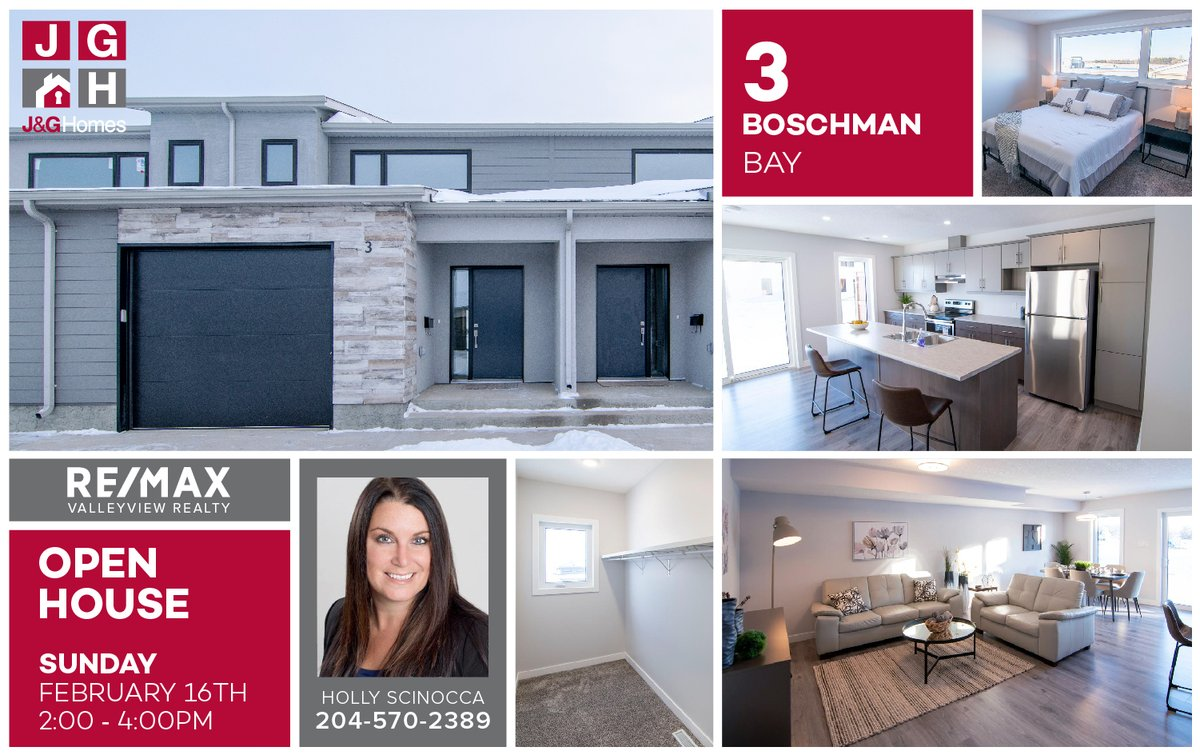 OPEN  X2  Holly and Bev have a town home and a bungalow to show you this afternoon at two different price levels! See Boschman Bay in The Loop and Valcourt Way on the north hill at The Summit! #CustomizedLifestyles #bdnmb pic.twitter.com/2ONh8jRqYj