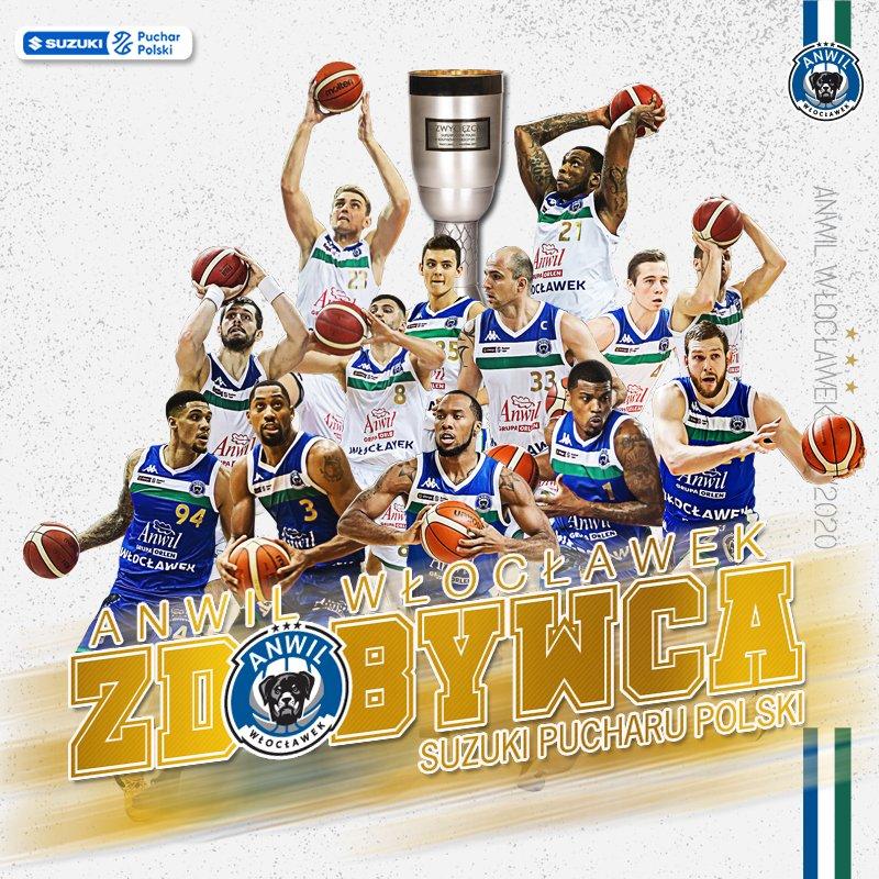 Kolejne trofeum do gabloty TAAAAAAAAAAK 🏆💙💚💪🏀💥  #SuzukiPucharPolski #GłodniZwycięstw #plkpl @PLKpl