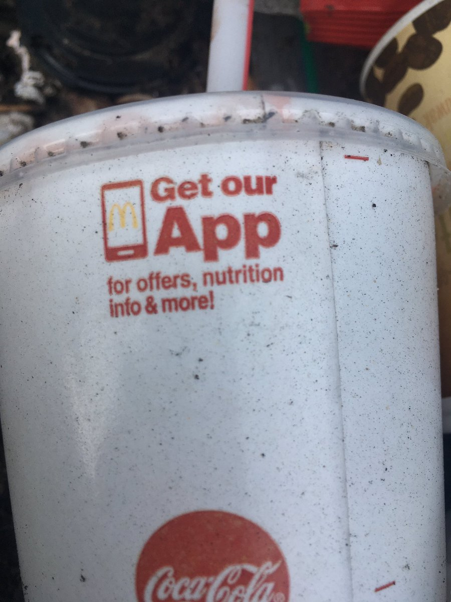 This cup reminded me about the @McDonalds app, which I would have downloaded, had I not already had it.