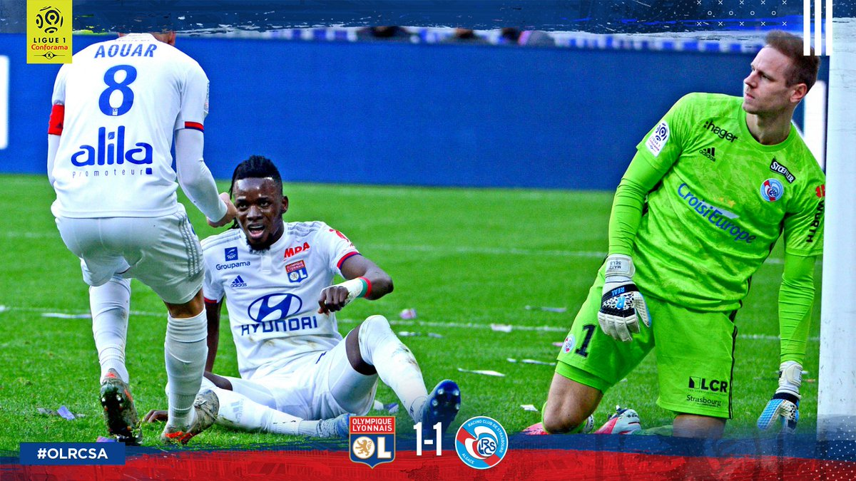 FT: #OLRCSA 1-1. It ends in a draw after Zohi cancelled out Traoré's opener.