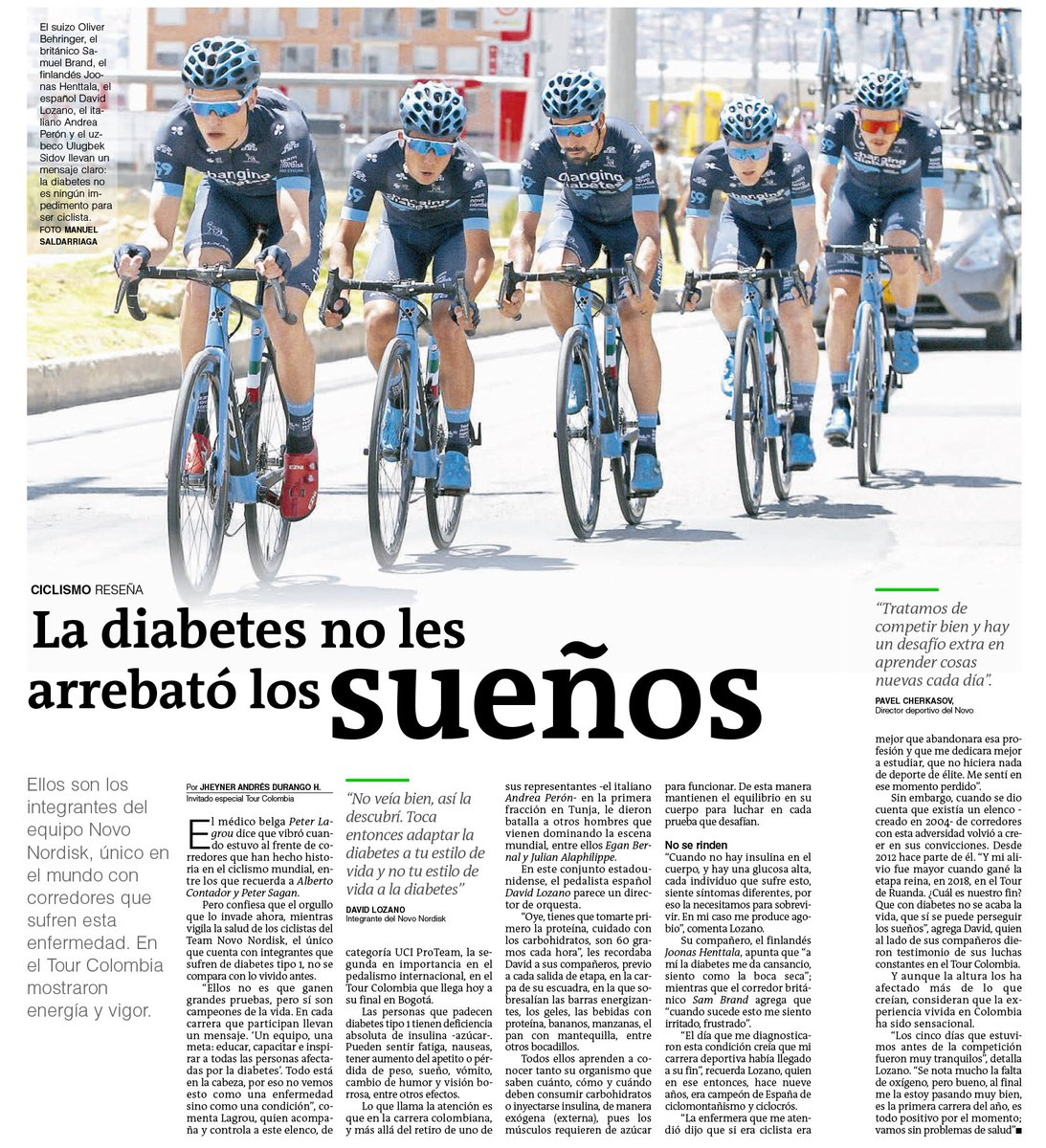 equipo 1 diabetes bikers