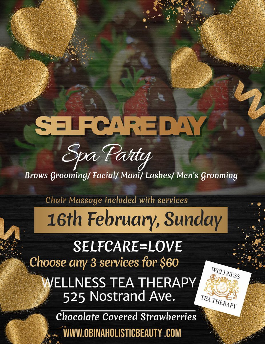 TODAY! Wellness Tea Therapy 525 Nostrand Ave 718-506-5766 #selfcare #selflove #love #skincare #mentalhealth #wellness #beauty #loveyourself #health #mindfulness #motivation #healing #meditation #mentalhealthawareness #yoga #fitness #inspiration #anxiety #positivevibes pic.twitter.com/S4tUjDGR5f