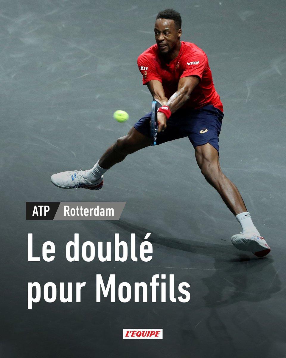Impérial contre Félix Auger-Aliassime, Gaël Monfils conserve son titre et remporte son deuxième tournoi de suite : ow.ly/xtce30qi7ub
