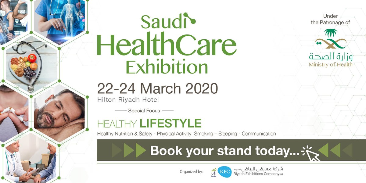 A gateway for high engagement and business prospects in the Healthcare industry. Under the patronage of the Saudi Ministry of Health, Saudi Healthcare Exhibition is taking place from 22-24 March 2020 at the Hilton #Riyadh Hotel.  Book Your Stand https://t.co/ZHzxU5sRYl https://t.co/J1thLzlvCI