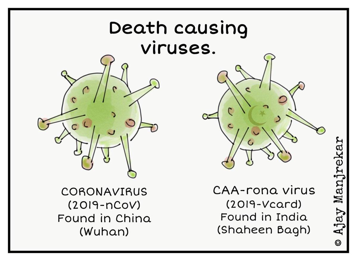 Which virus is more dangerous??? Cartoon by me.   #Coronavirius