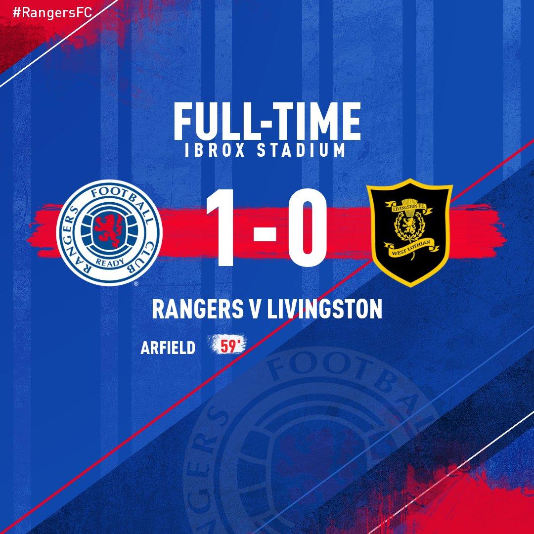 FULL-TIME: Rangers 1-0 LivingstonArfield's goal gives #RangersFC the victory at Ibrox.
