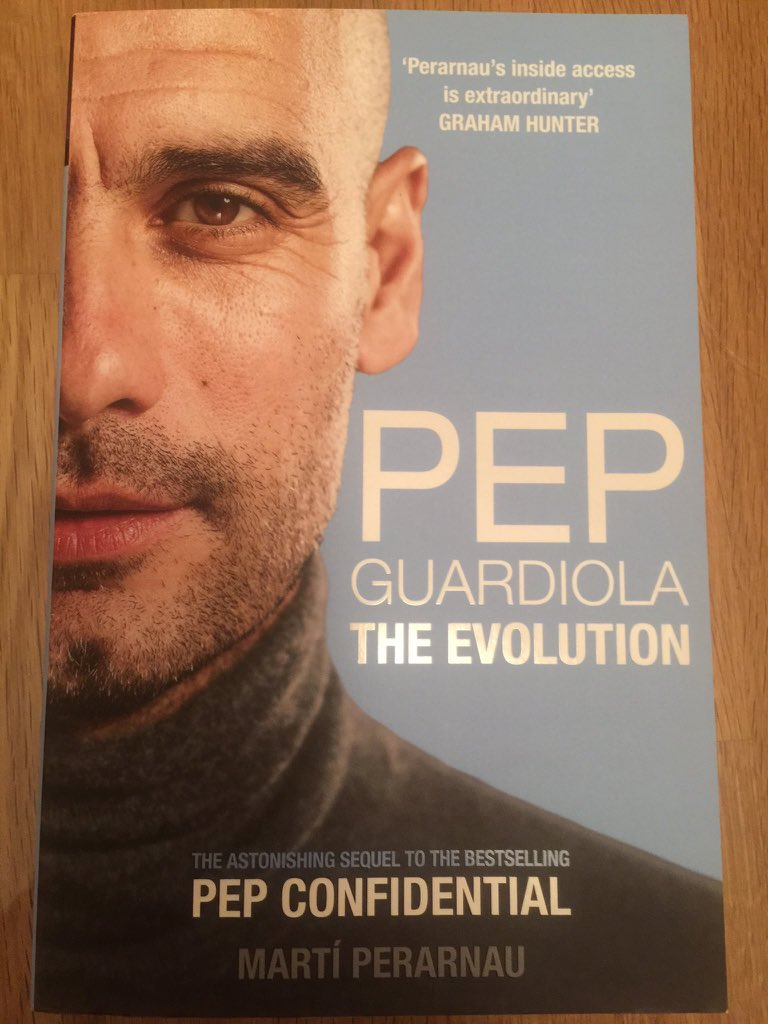 My friend got me this book after I posted that I was looking for a soft copy of it (😭🥰) and boy what a riveting read! #PepGuardiola