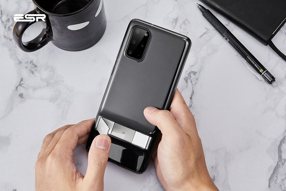 A first look at our kickstand case on the new #SamsungGalaxyS20  Get yours now https://soo.nr/gdxp  #ESRGear #MakeLifeEasier pic.twitter.com/zcwC5PpXKb