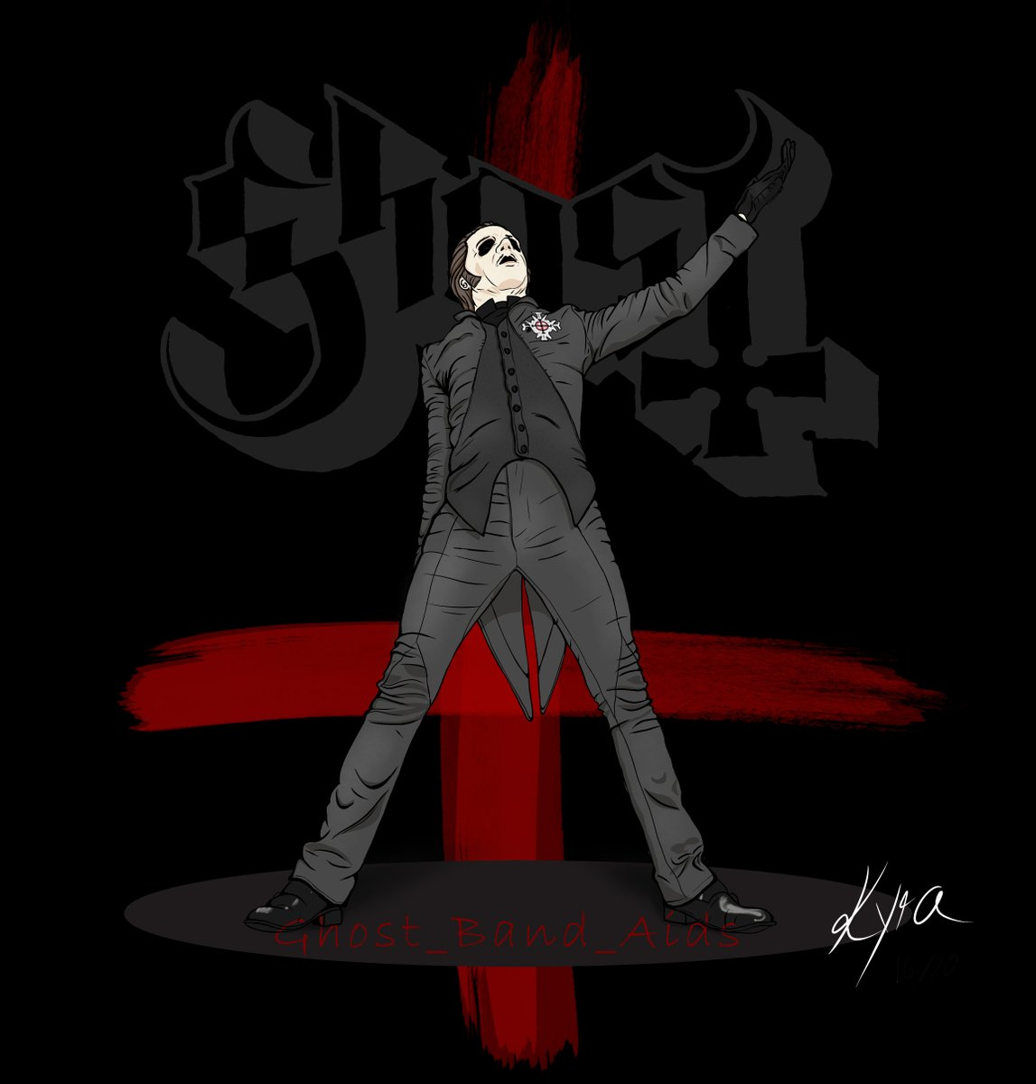 I still want to improve my drawing skills. I had this kind of picture in my mind for a long time. I like the color combination very much. I hope you like it!  I am happy about suggestions and criticism!  #thebandghost #cardinalcopia #tobiasforgepic.twitter.com/UTIHB1OcOd