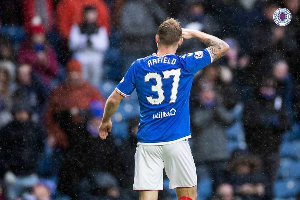 A Man of the Match performance and a goal from Scott Arfield today.