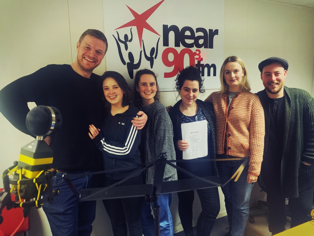 """Starting my audio drama recording in 2020 the way I ended in 2019 with another very funny script by @ciaraesmyth Today we recorded """"All Honey"""" directed by @JedadeBri and you can also catch the stage production of it this week https://projectartscentre.ie/event/all-honey/… #AudioDrama #AudioDramaSundaypic.twitter.com/cbIVQnf68Y"""