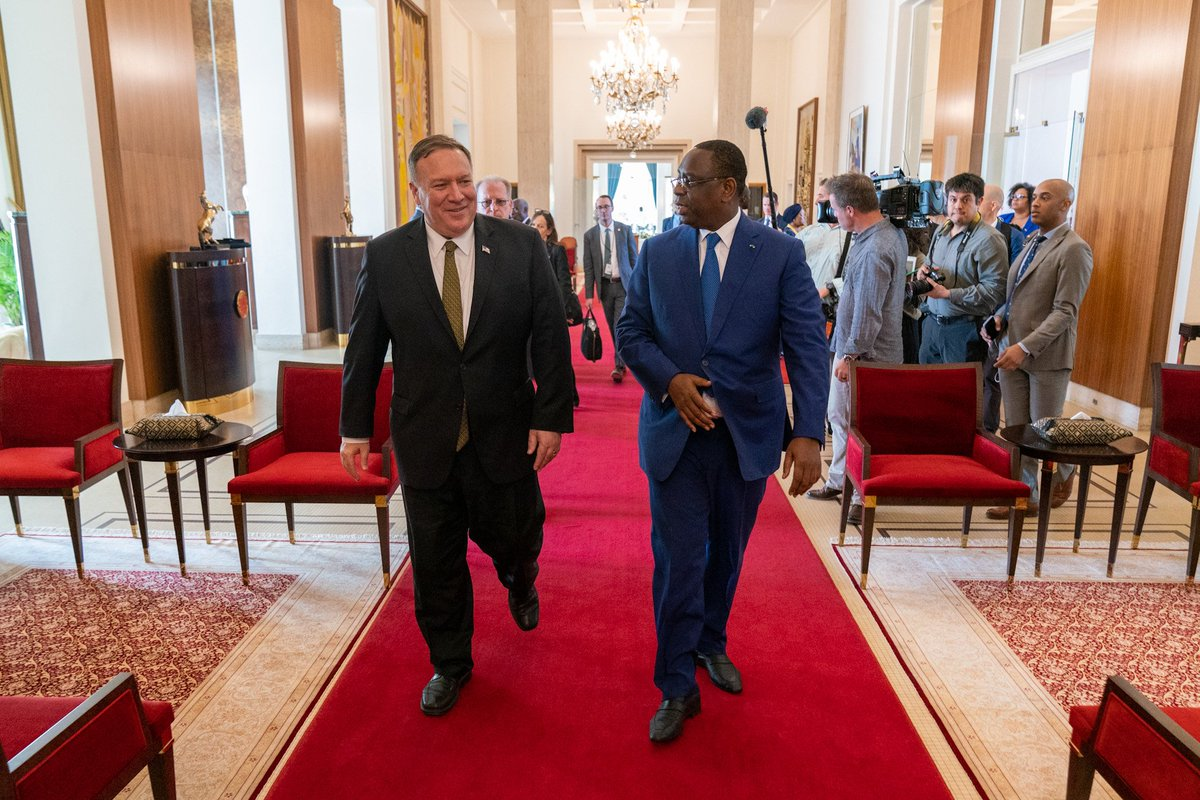 I enjoyed meeting with Senegalese President @Macky_Sall in Dakar today to discuss ways to deepen our cooperation, which spans 60 years and is a true testament to the strength of our bond. #Senegal is one of our most important partners in promoting peace and security in Africa.