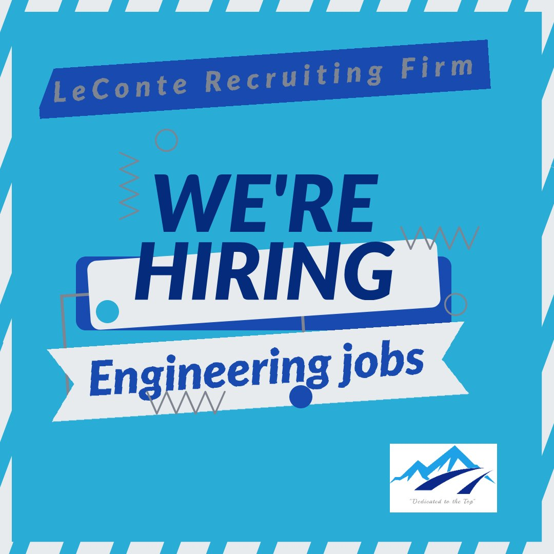 LeConte Recruiting Firm has Engineering positions across the country #leconterecruiting #engineeringjobs #engineeringcareers #wearehiring #jobsearch #womenintech #femaleengineers #engineering #electricalengineer #worldofengineering #engineeringpost #techy #gadgetspic.twitter.com/CXJbkXH8Cn
