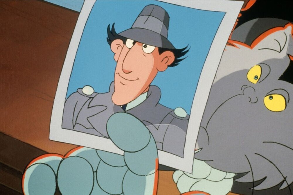 """Animation art from INSPECTOR GADGET (1983). I had a friend who claimed he had seen Dr. Claw's face in one episode. There were always rumors like that. """"In one cartoon Coyote catches the Road Runner."""" """"Walt Disney is frozen in ice."""" """"Dame Edna is really a man."""" Pfft. pic.twitter.com/sMgHTdQ9RC"""