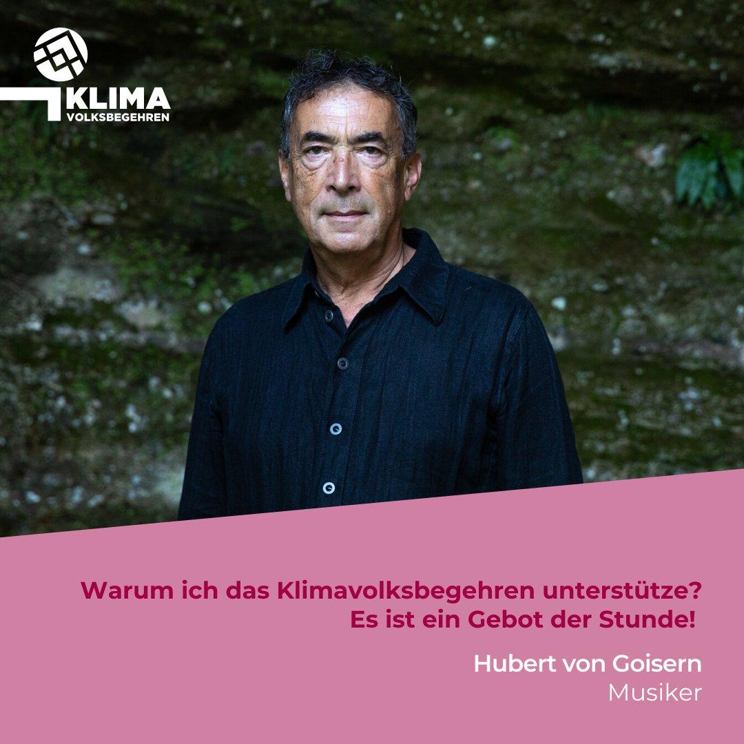 Hubert von Goisern setzt sich für mutige Klimapolitik ein und unterstützt das #klimavolksbegehren!  Unterschreibe auch Du für echten Klimaschutz: https://klimavolksbegehren.at/unterschreiben/. #klimawandel #klimaschutz #machtsendlich #promispic.twitter.com/ybo8jswz7S