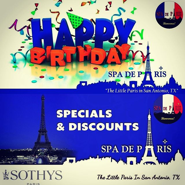 ENJOY 30 % ON SELECTED DAYS OF YOUR BIRTHDAY WEEK;-) Enjoy to save Your SPOT CALL 210-401-4266 #FSA   #Massage #Couplemassage #SkinCare #Waxing #SpaDay #DaySpa #Sauna #birthday #Cafe #Bistro #Wine  #Love https://www.spadeparis.com/specials-discounts…pic.twitter.com/fCga5rKY8f