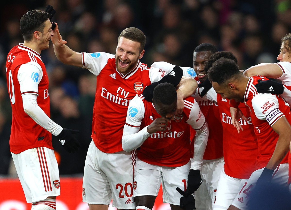 Spirits high at @Arsenal after a first win in five Premier League games – and their biggest under Mikel Arteta.  🗓️ Perfect timing ahead of their #UEL trip to Olympiacos.