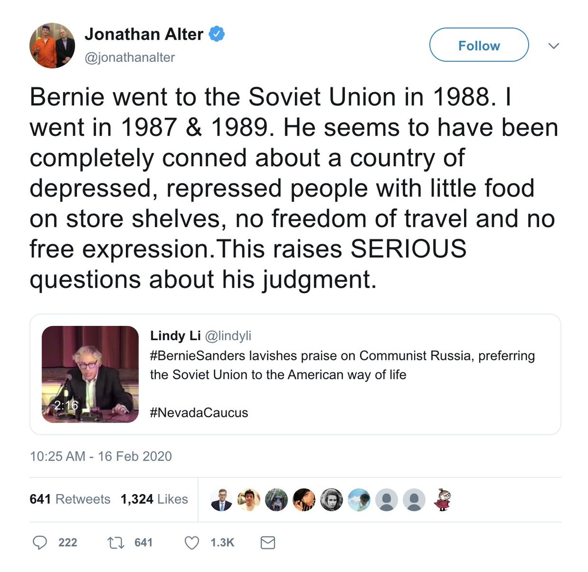 You can do this or an Epstein connection to every single liberal critic of Bernie