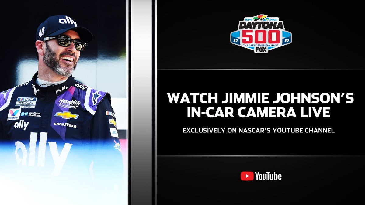 Head to @NASCAR's channel to ride shotgun with Jimmie Johnson during the Daytona 500: https://youtu.be/aL579Mfk3jE