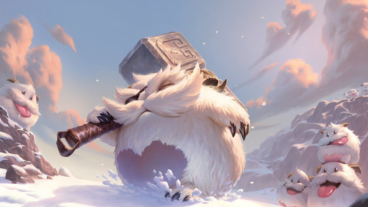 Ol Longhorn here lost an eye defending the Poro King himself from an ornery wildclaw! After all, its not the size of the hammer but the size of the heart that matters. - Poro Herder