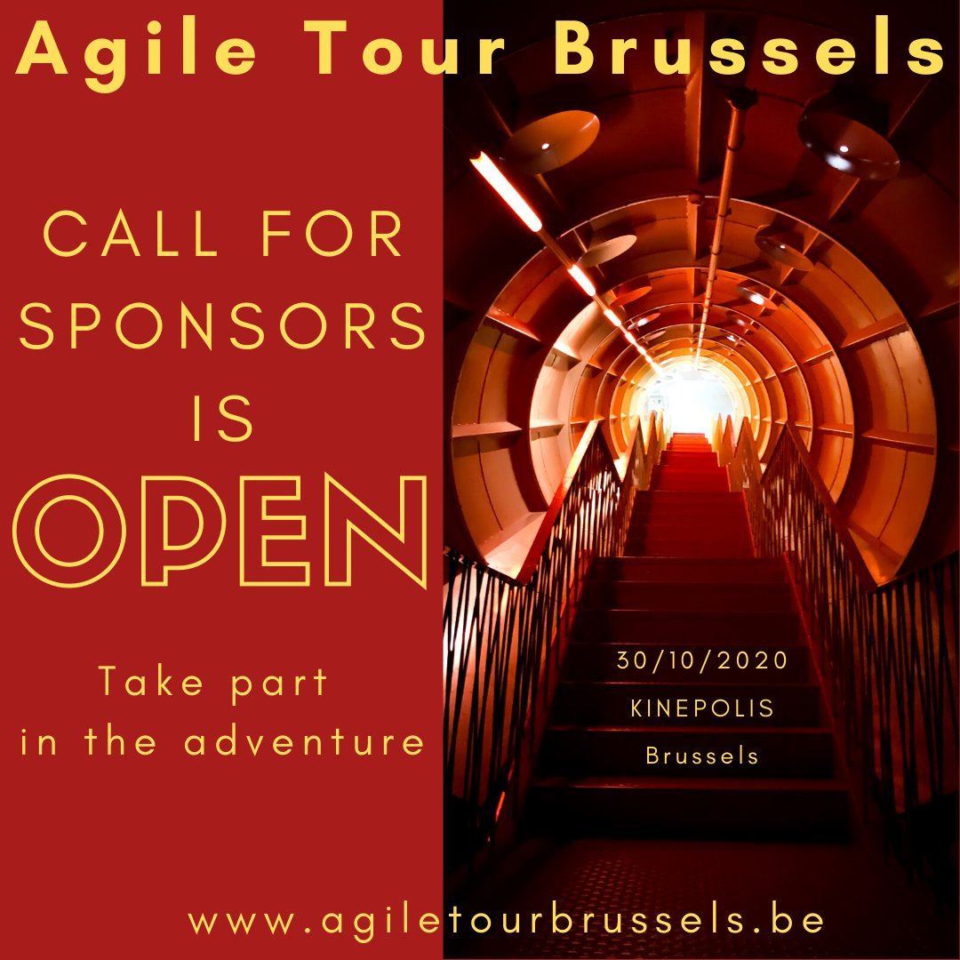 Dear all,   Our Call For Sponsors is open and the Belgian Agile Community need your support.  Joins us for an Awesome Conference !!!  #ATBru2020 #Agile #Tour #Brussels #conference #sponsorship https://t.co/VBwDVDADt6