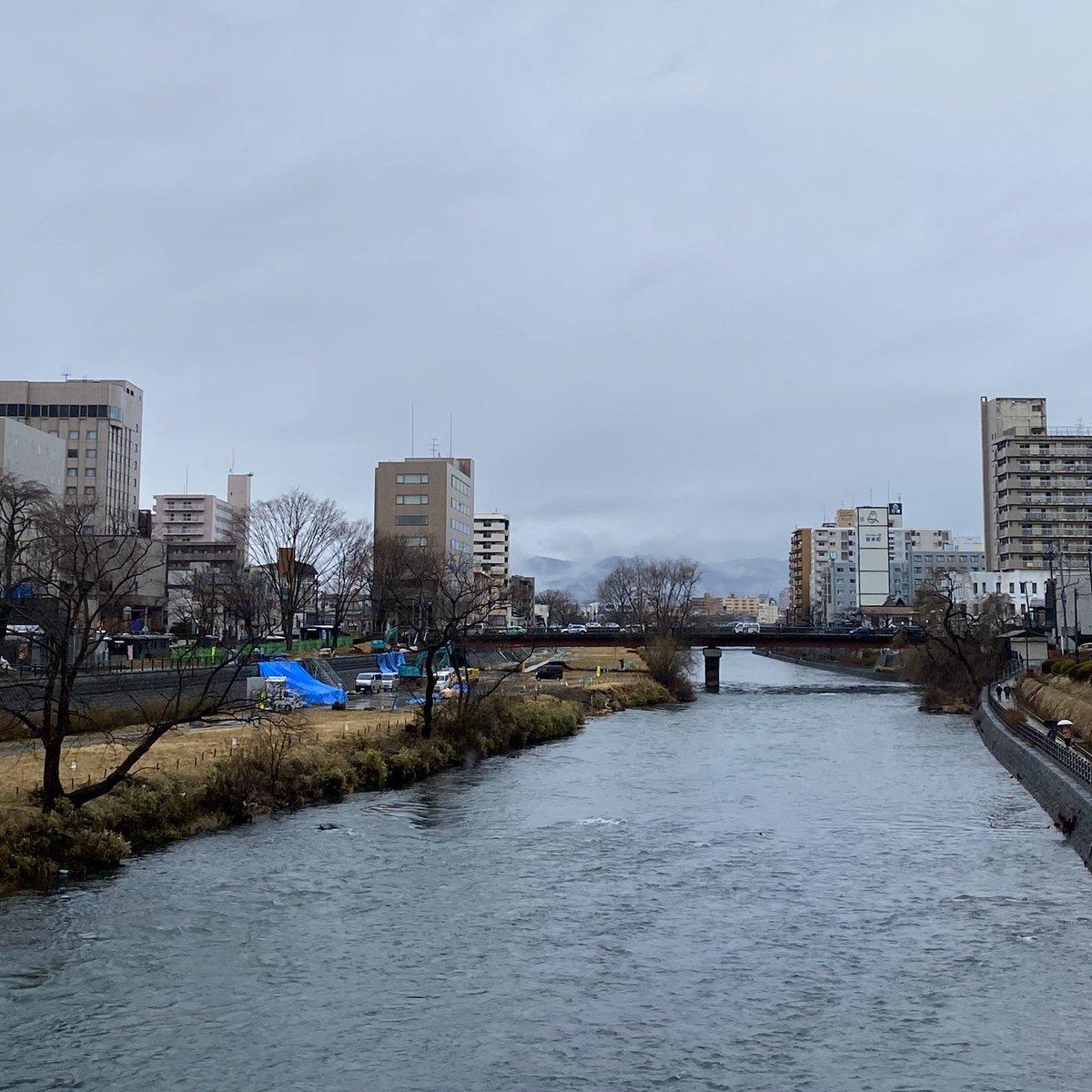 2020/02/17 盛岡市の開運橋から撮影。みなさま、体調管理に気をつけてお過ごしください。 #岩手 #盛岡 #北上川 #岩手においでよ