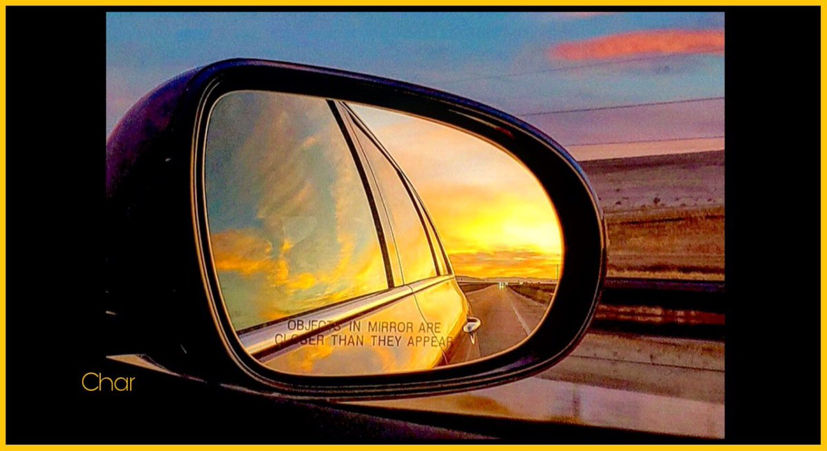 Looking back... A little Utah on my mind... #SaltLakeCity #Utah #I80  #Sunset #Mirror #Reflection #November2019   pic.twitter.com/mMenefrdap