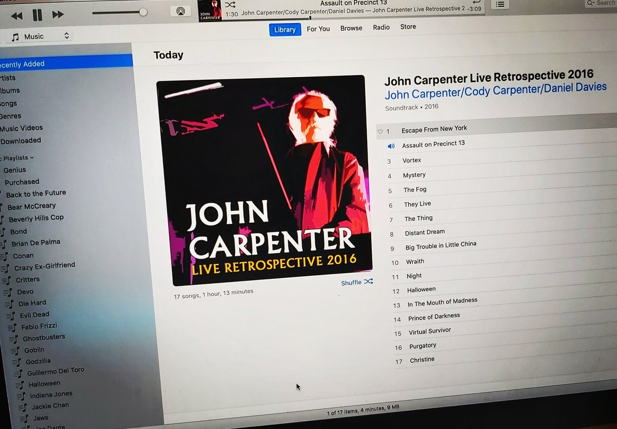 I bought a blu-ray drive for my computer specifically so I could rip this show and create this album.  #JohnCarpenter #soundtracks pic.twitter.com/tjPx3cRzSp