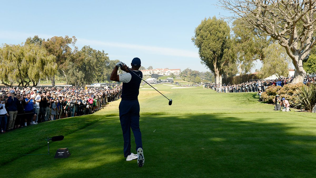 Whether it be interviews or pairings parties, Tiger had a full schedule.