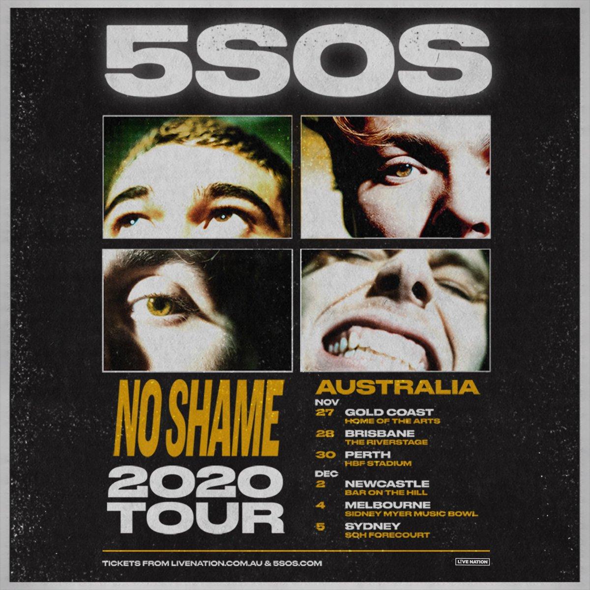 NO SHAME TOUR AUSTRALIA 2020 // ON SALE 21 FEB // 5SOS.COM