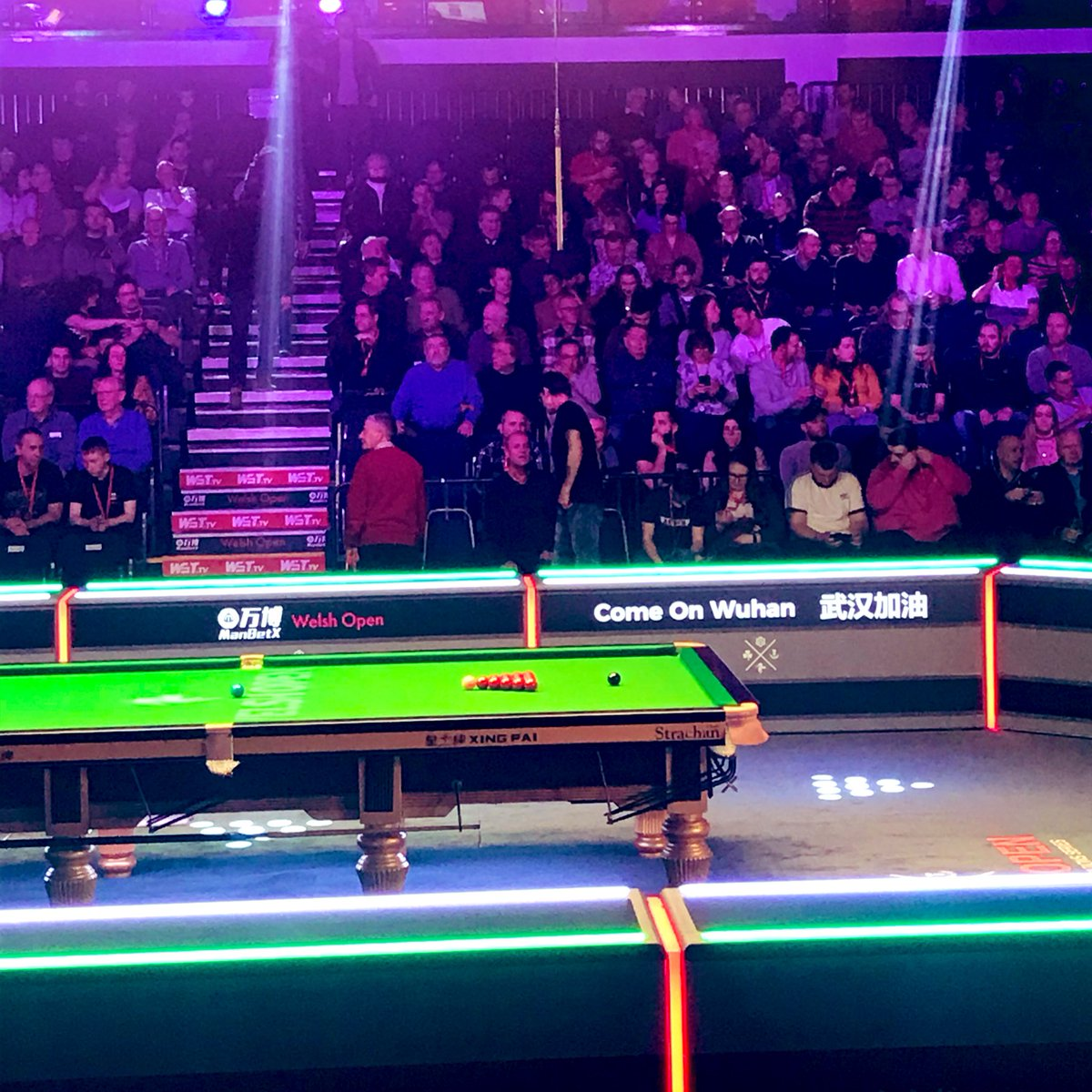 Where's the cueball going...? #bbcsnooker 🏴 – at Motorpoint Arena Cardiff