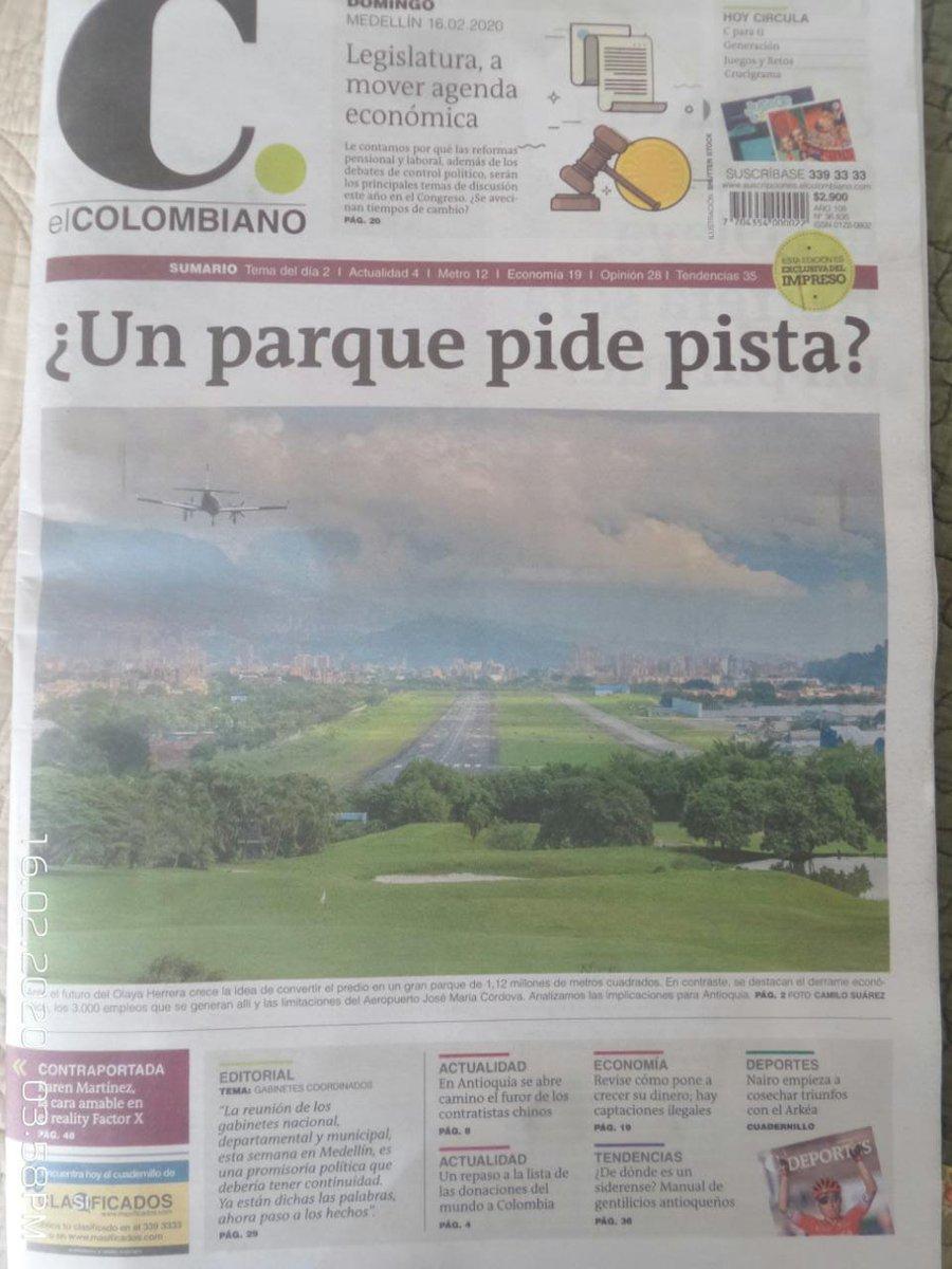 Replying to @SoyJFAlvarez: El debate sobre un posible parque en el predio @AeropuertoEOH informe @elcolombiano @JdiegoOrtiz