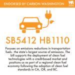 Image for the Tweet beginning: Carbon Washington has endorsed: HB5412/SB1110