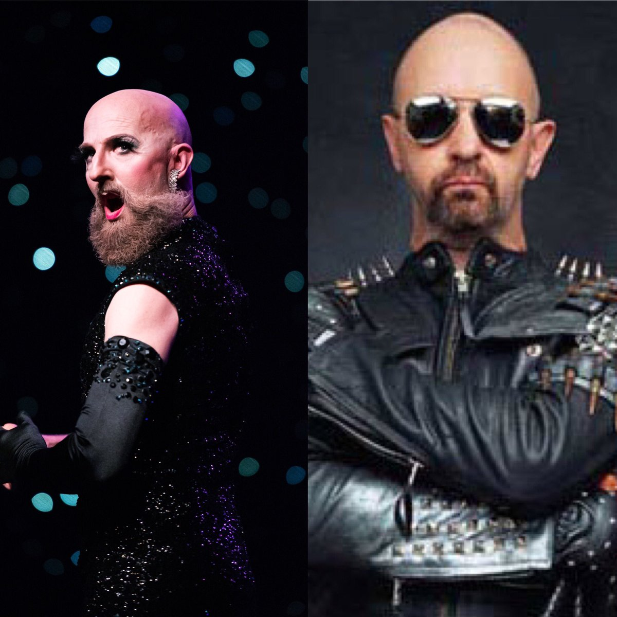 Twice I've been asked for an autograph. Happy to resemble hot homo rocker Rob Halford of Judas Priest. #celebritylookalike pic.twitter.com/sAefh3c8iu