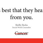 Image for the Tweet beginning: Talking about #cancer with your