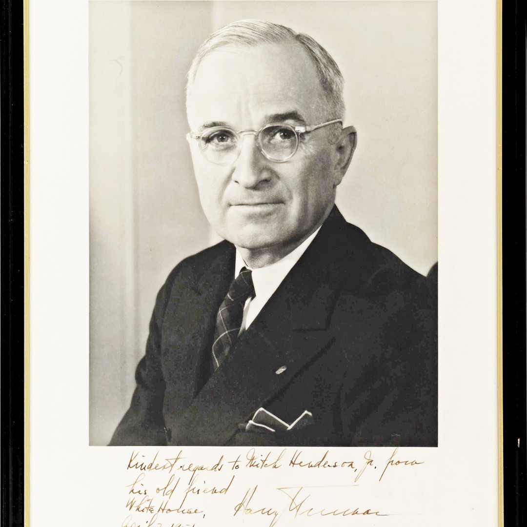At auction: A Fine, Large Photo Signed by President Harry Truman   https://www.invaluable.com/auction-lot/fine-large-president-truman-signed-photo-26D40F7AF0…  #harrystruman #presidentialcampaign #presidents #americanpresidents #presidentsday #democratspic.twitter.com/Mg9yaxiD4a