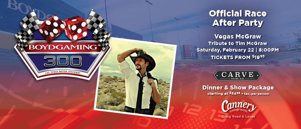 Join us this Saturday, February 22,  at the @CanneryCasino for the Boyd Gaming 300 Official Race After Party!   https://t.co/riSH5mAE4r https://t.co/TWUSa55FPz