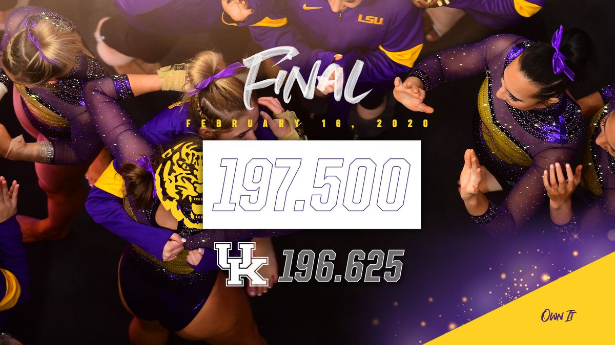 Tigers Win! Tigers Win! LSU completes the weekend sweep with a team score of 197.500
