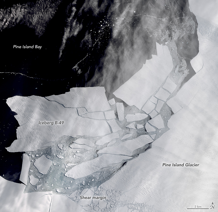 test Twitter Media - In a waiting game that spanned several months of 2019 and 2020, scientists watched cracks grow across the tongue of #Antarctica's Pine Island Glacier. The waiting ended on February 9, 2020, when numerous icebergs detached from the glacier. https://t.co/uc5ourdywx #NASA #Landsat https://t.co/WhmgeEcNJ8