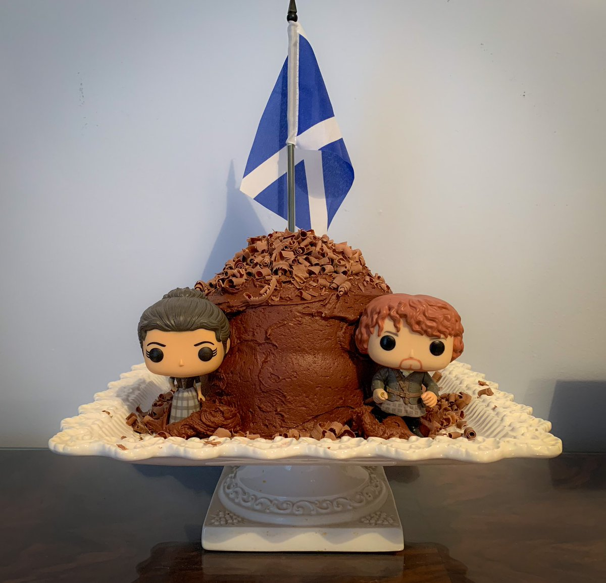 Getting ready to transport this #betterthanjamiechocolatecake to our season 5 premiere watch party! #Outlander #TheMacKenzies #TheFrasers #RogerAndBree