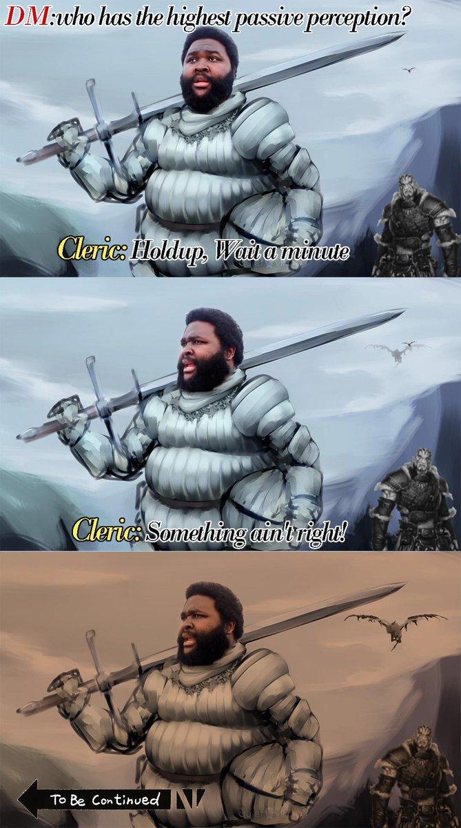 This is a dank meme! I would r8 8/8 m8! RT @Videogamehero: RT @MemesDnd: Hold up! #dungeonsanddragons #gamenight #dndmemes  #charactersheet  #adventure  #meme #bardpic.twitter.com/0he1Rh1cRn