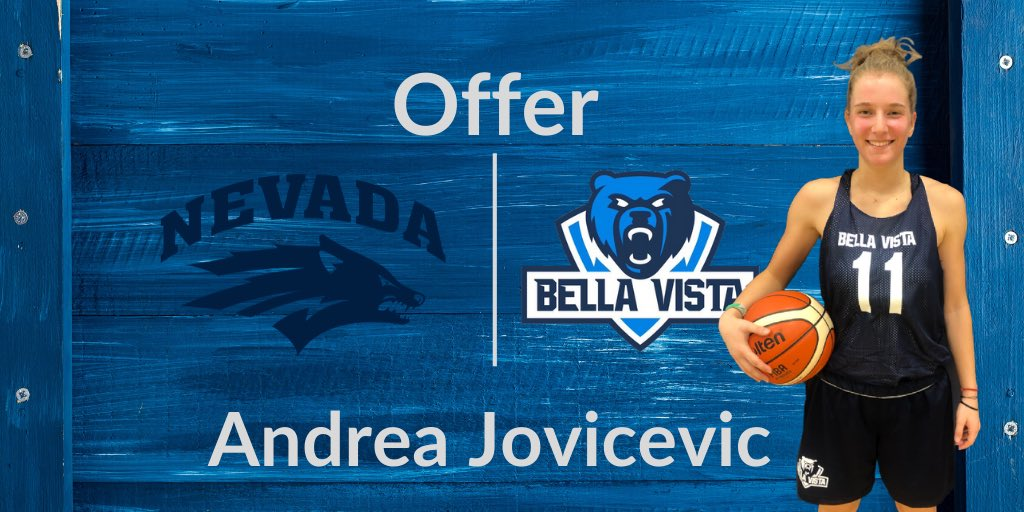 Congratulations to @jovicevicandrea on her offer from @NevadaWBB! Andrea has worked hard all year and capped it off yesterday with 32 points vs. @ACU_WBB in the semifinals & then 20 points in @AWBLAZ final. #WeAreBV https://t.co/88yV7keqEZ