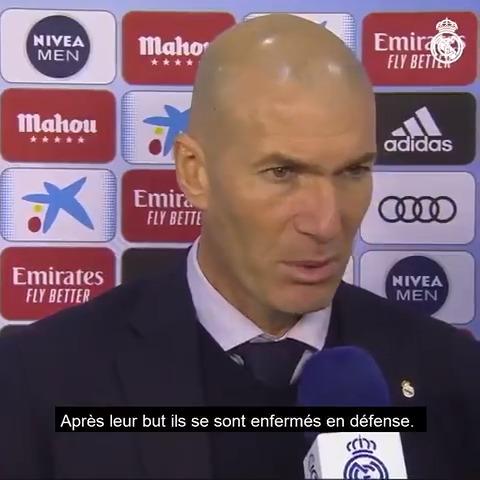 💬👔 L'analyse de #Zidane après la rencontre contre @RCCelta.  #RealMadridCelta