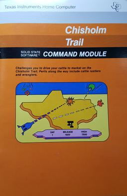 the chisholm trail is a computer game released in july 1982 for the texas instruments ti-99/4a personal computer. players take the role of a cattle driver on the chisholm trail. bringing their cattle to set destinations while defending them against cattle rustlers and wranglers. pic.twitter.com/0D51B4Kmw8