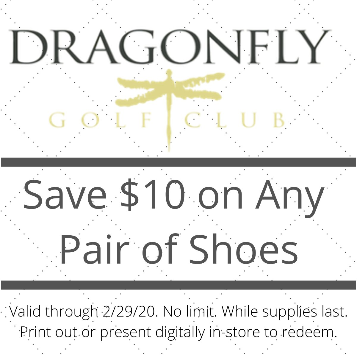 Thinking about changing up your style while on the green? Get $10 off any pair of shoes now until the end of the month in-store while supplies last!    #californiagolf #salepic.twitter.com/E3lgWV4a14